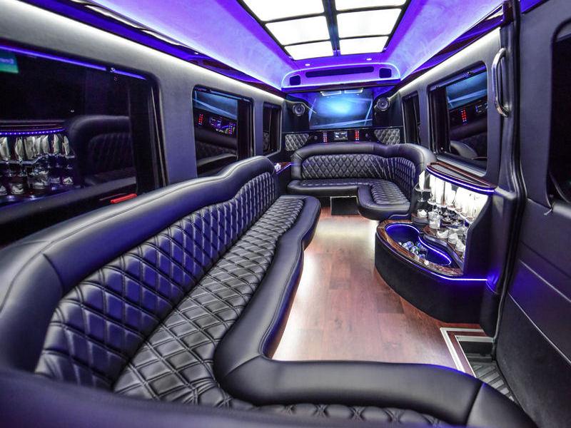 mercedes-sprinter-14 passenger limo-inside